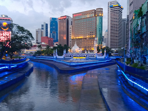 Kuala Lumpur riverside at dusk