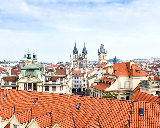 Vistas de Praga desde el mirador de Clementinum