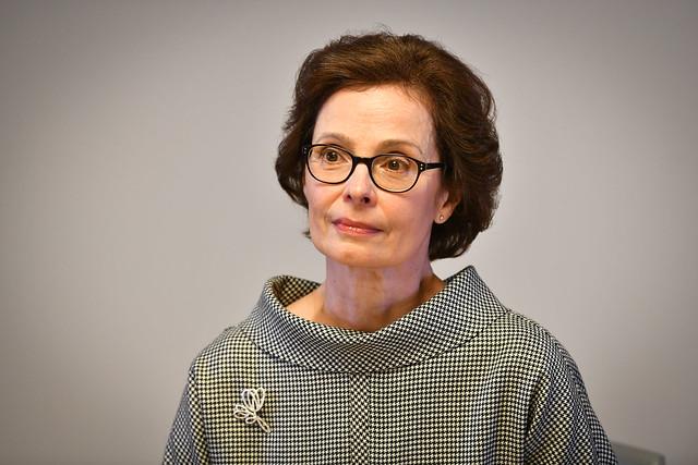 """08.03.2021. Andra Levite uzrunā Riga TechGirls un Latvijas Investīciju un attīstības aģentūras rīkotā starptautiskā hakatona """"Sievietes. Tehnoloģija. Ilgtspējība."""" dalībniekus"""