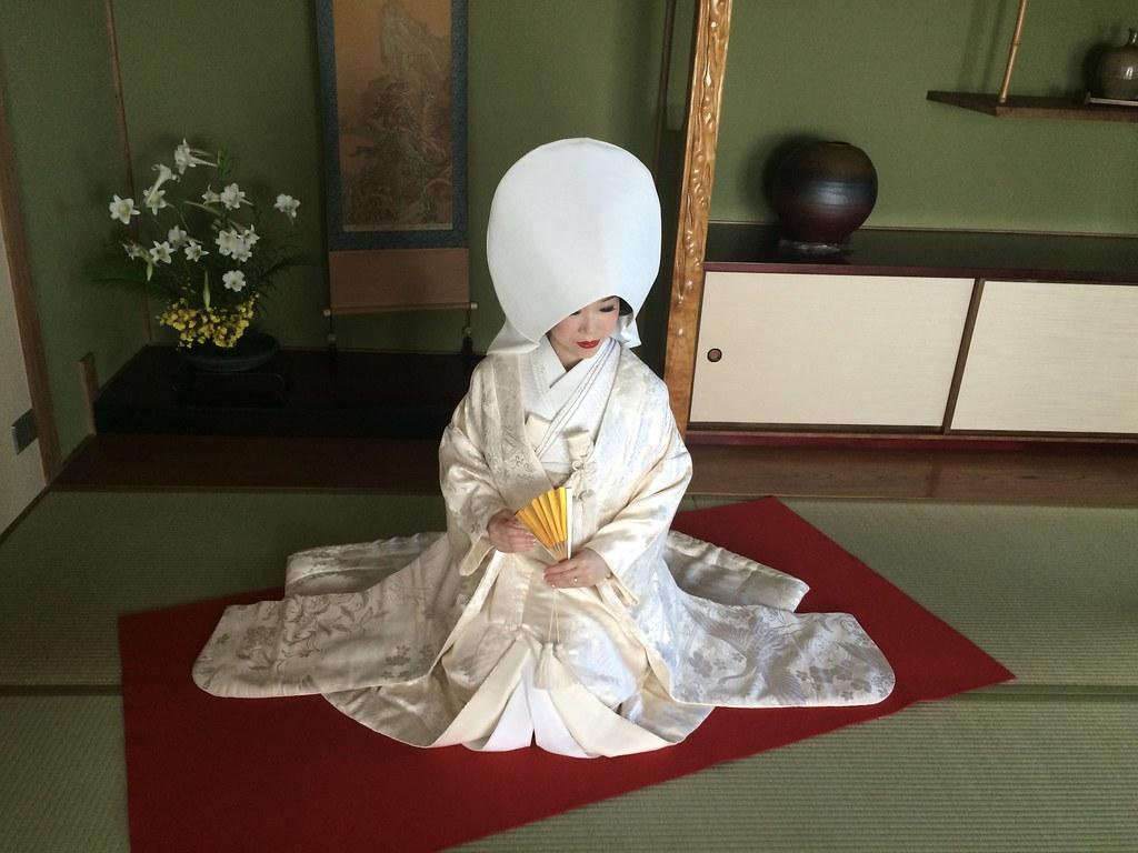 和装ロケーション(白無垢・鬘・綿帽子)