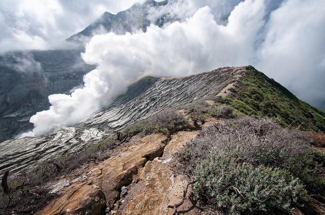 Fumaroles at Ijen volcano - Java Island - Indonesia
