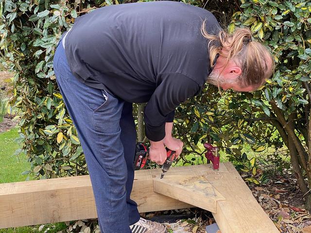 Ben fixing the corner ties