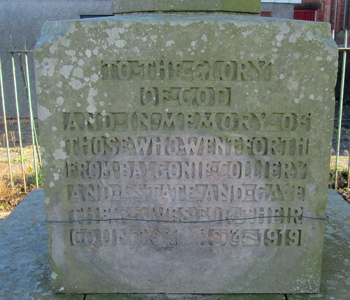 Dedication, Coaltown of Balgonie War Memorial3