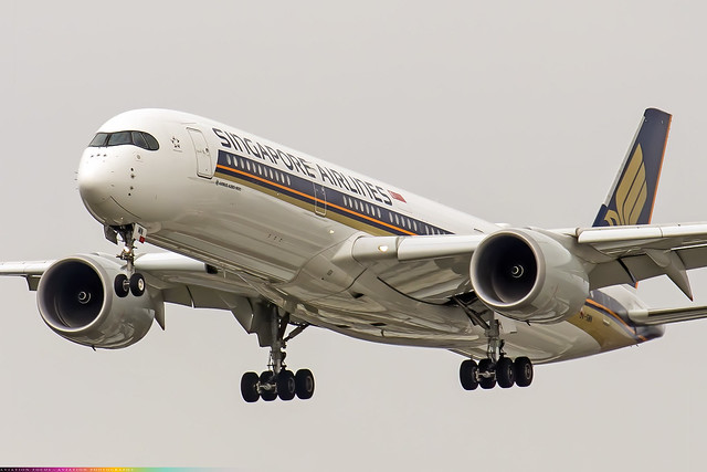9V-SMN  -  Airbus A350-941  -  Singapore Airlines  -  LHR/EGLL 31/3/21
