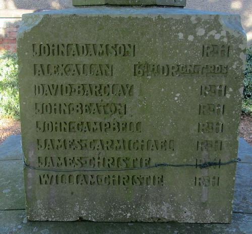 Names, Coaltown of Balgonie War Memorial4
