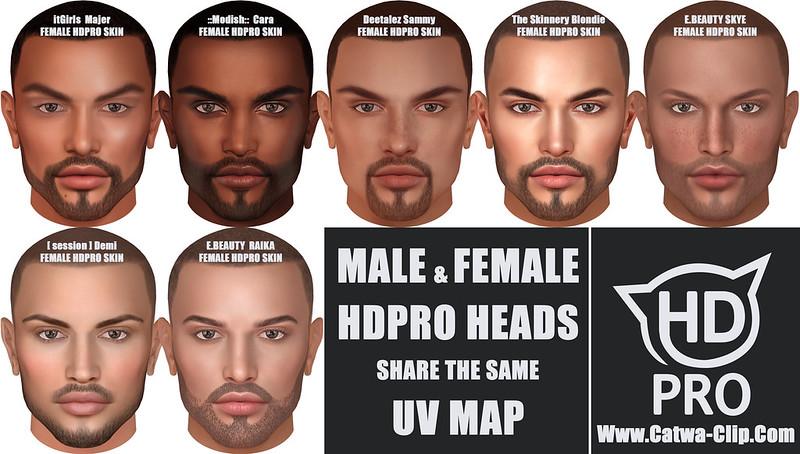 MALE&FEMALE HDPRO UVMAP MATCH