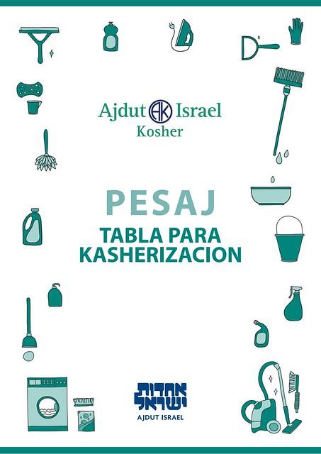 Tabla para la kasherizacion de Ajdut Kosher