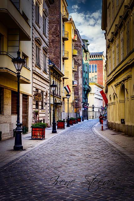 Bastya Street in Budapest, Hungary