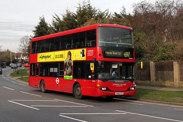 Route 697, London United, SP40004, YN56FCE
