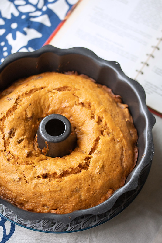 Finished Tomato Soup Bundt in the Pan