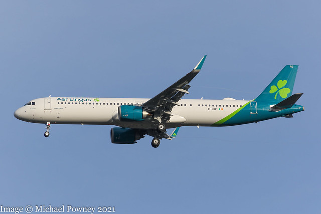 EI-LRE - 2020 build Airbus A321-253NX, on approach to Runway 23R at Manchester