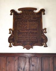 On Feb 2nd 1749/50 the seven peals under written were rung here