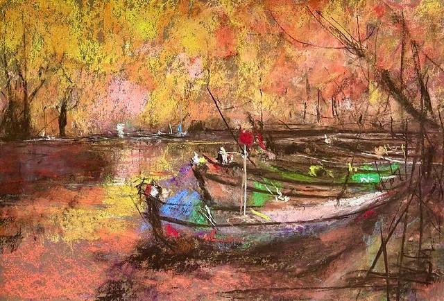 Pastel Painting (8K,38x26cm)