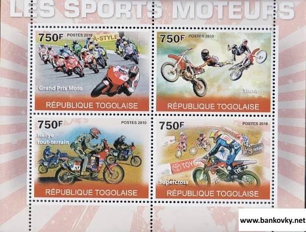 Známky Togo 2010 Motocyklový šport neraz. séria MNH