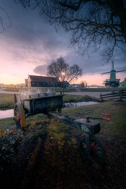 Sunset at Zaanse Schans - III
