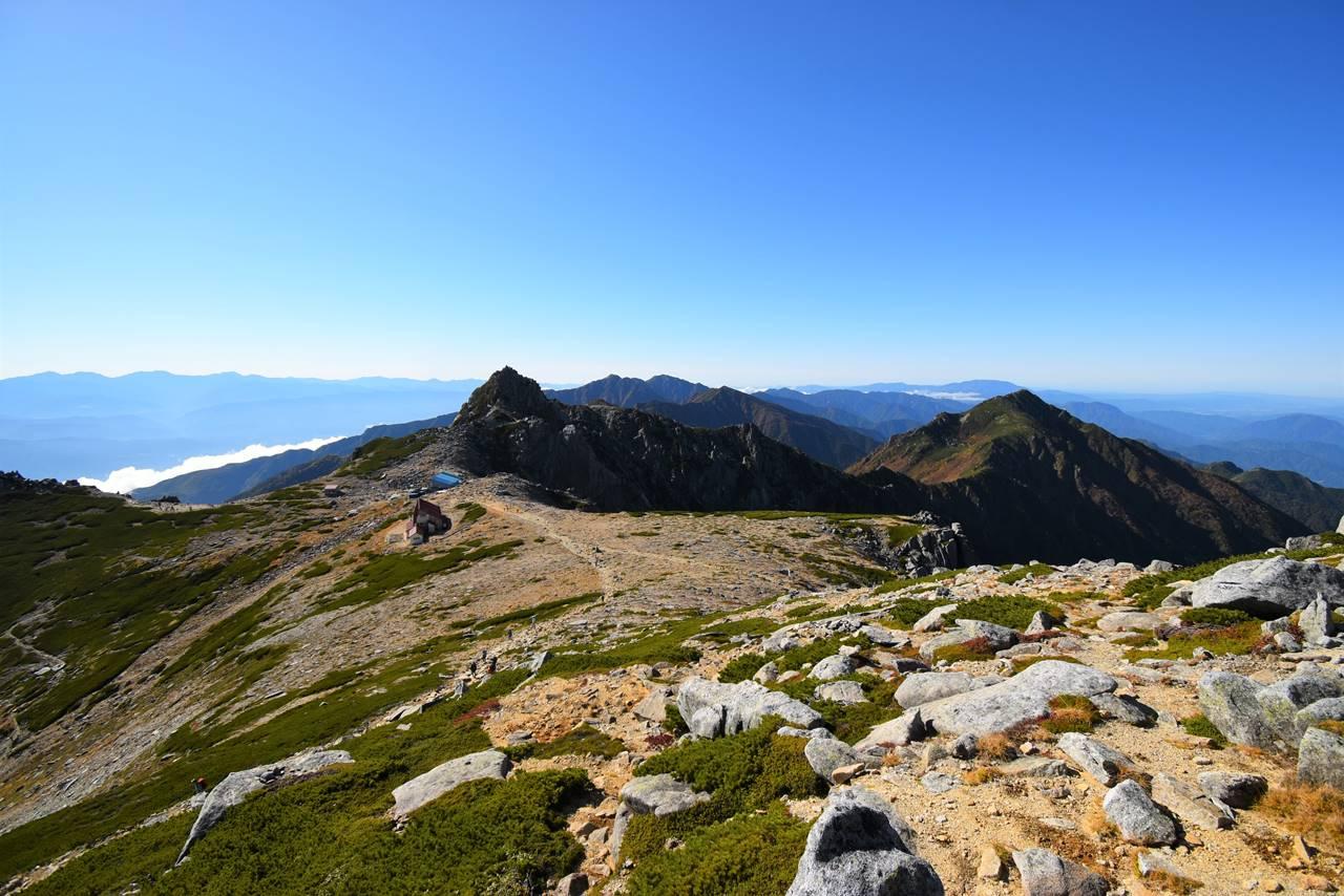 中央アルプス木曽駒ヶ岳~空木岳の縦走路