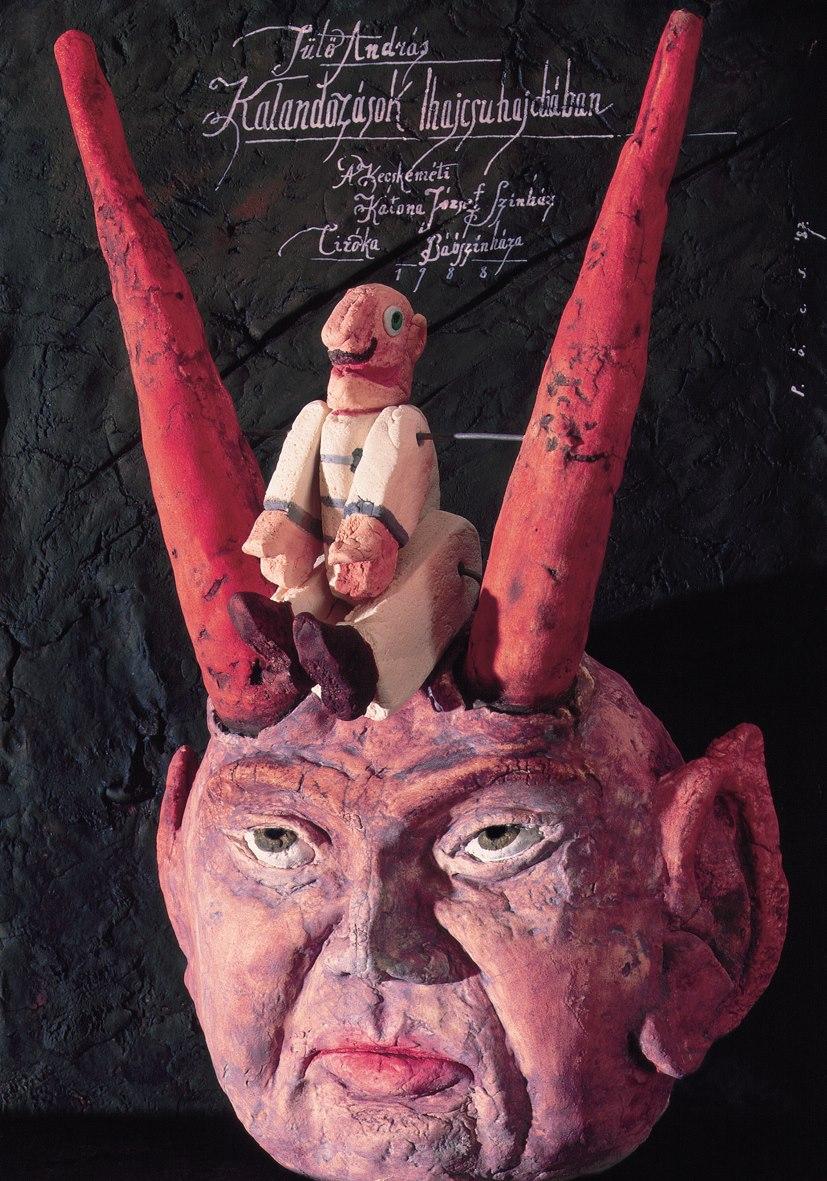 Péter Pócs - András Sütő- Adventures in Gandy-Wandy Land theatrical poster. 1987