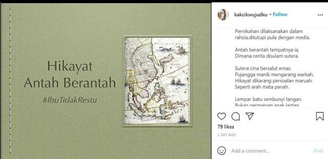 Betul Ke Perkahwinan Hannah Delisha & Imam Shah Tak Direstui, Puisi Ibu Undang Tanda Tanya