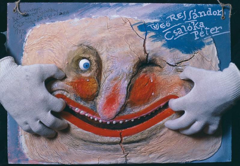Péter Pócs - Sándor Weöres- Peter the Trickster (theatrical poster, 1987)