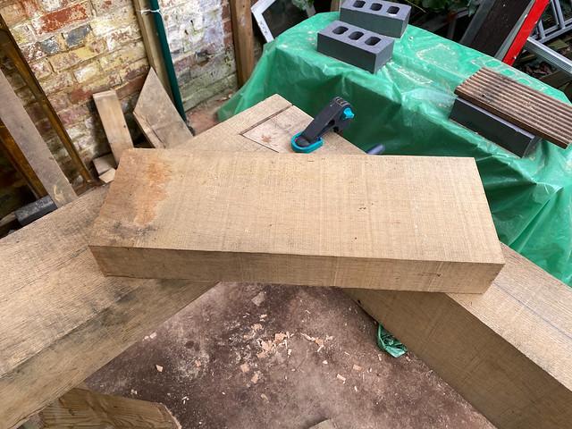 Hip rafter off-cut