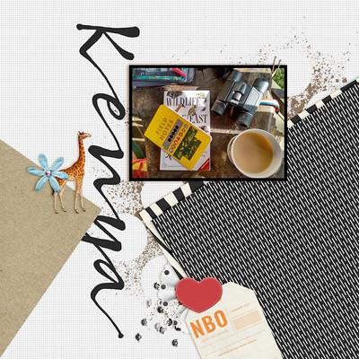 Kenya Digital Scrapbook Album