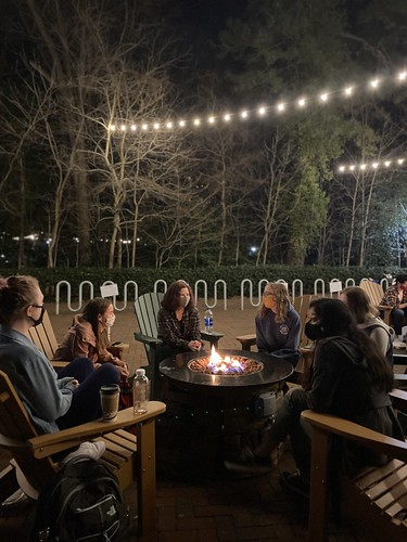 Fire pits are perfect for warming up and catching up with friends on cold winter nights.