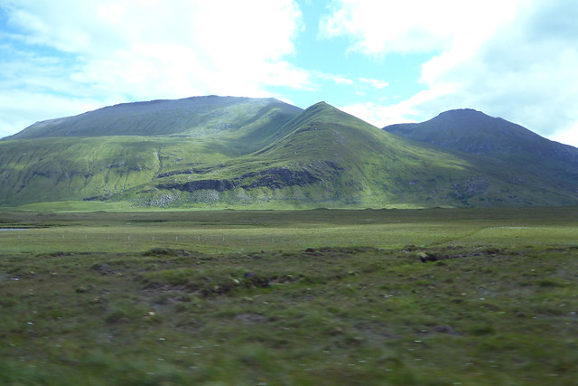 View from the A838
