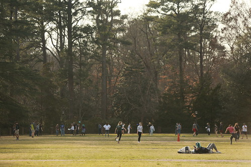 Spring break days offer a time for rest, relaxation and rejuvenation in the Sunken Garden.