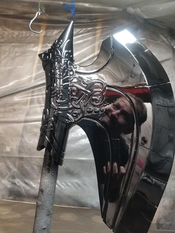 Repainting Jarnbjorn Head Gloss Black