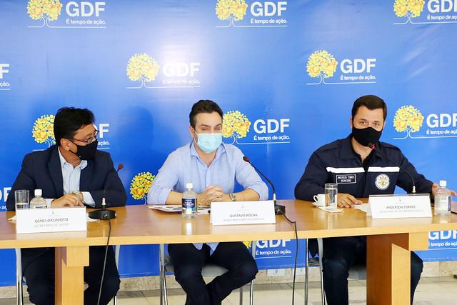 Coletiva sobre ações do GDF no combate à covid-19