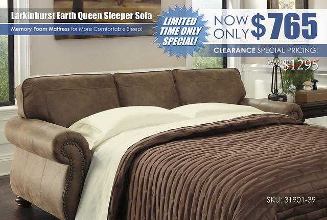 Larkinhurst Earth Queen Sleeper Sofa Special_31901-39_Update
