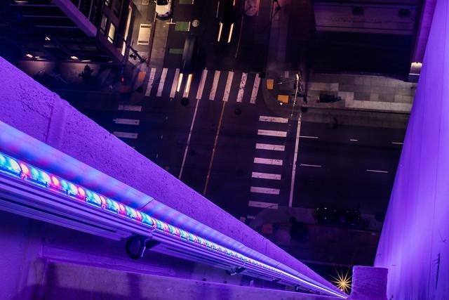 women's day lights at fox plaza