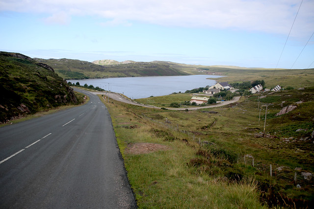 The B801 near Kinlochbervie