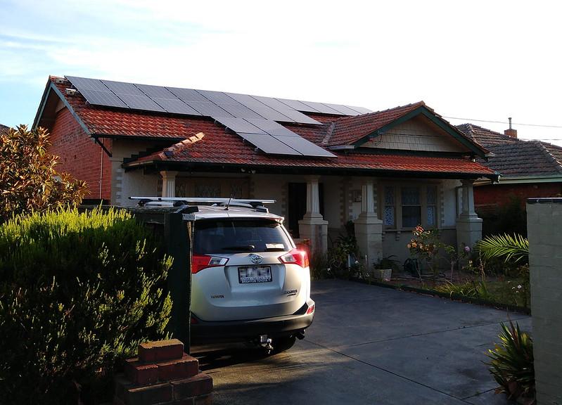 Solar panels on roof, Bentleigh