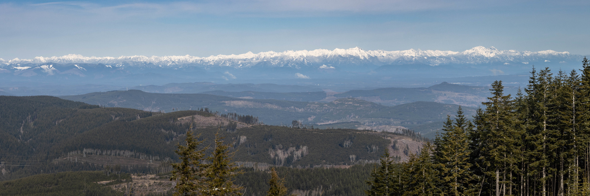 Northern panoramic view of the Olympic Mountains