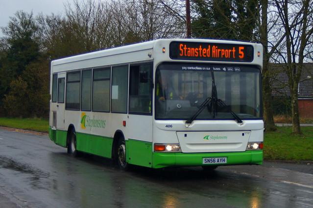 Darting On: Stephensons of Essex Dennis Dart SLF/Plaxton MPD SN56AYH (406) Beldams Lane Bishops Stortford 10/03/21