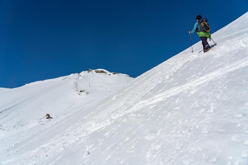 焼岳の雪渓