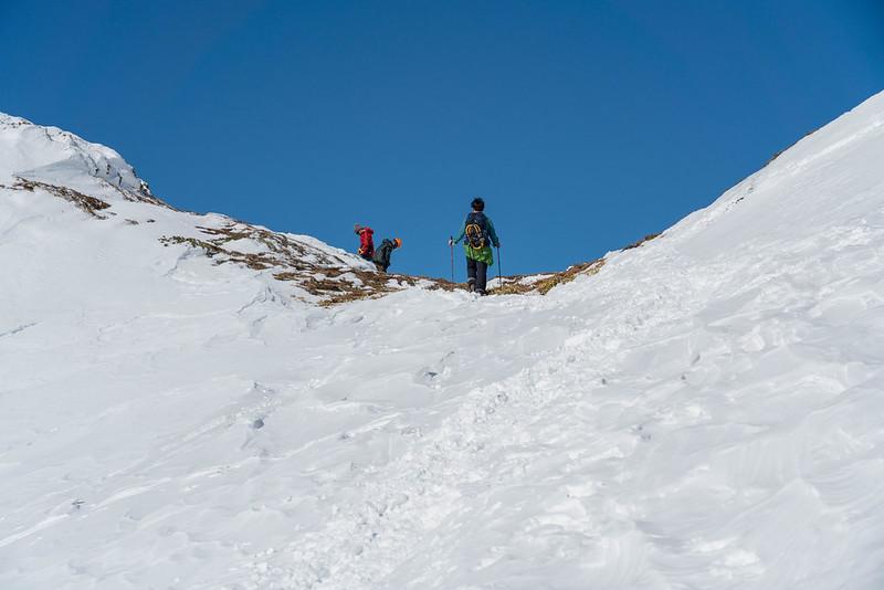 焼岳の南峰の鞍部