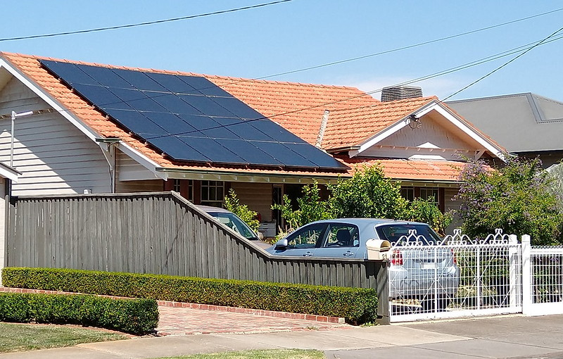 Solar panels on roof, Maribyrnong