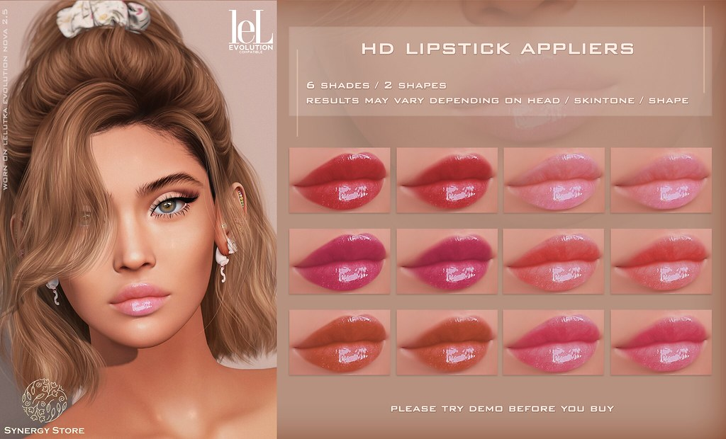 Synergy – Lelutka Lipstick Applier for EVO heads – Pia♥