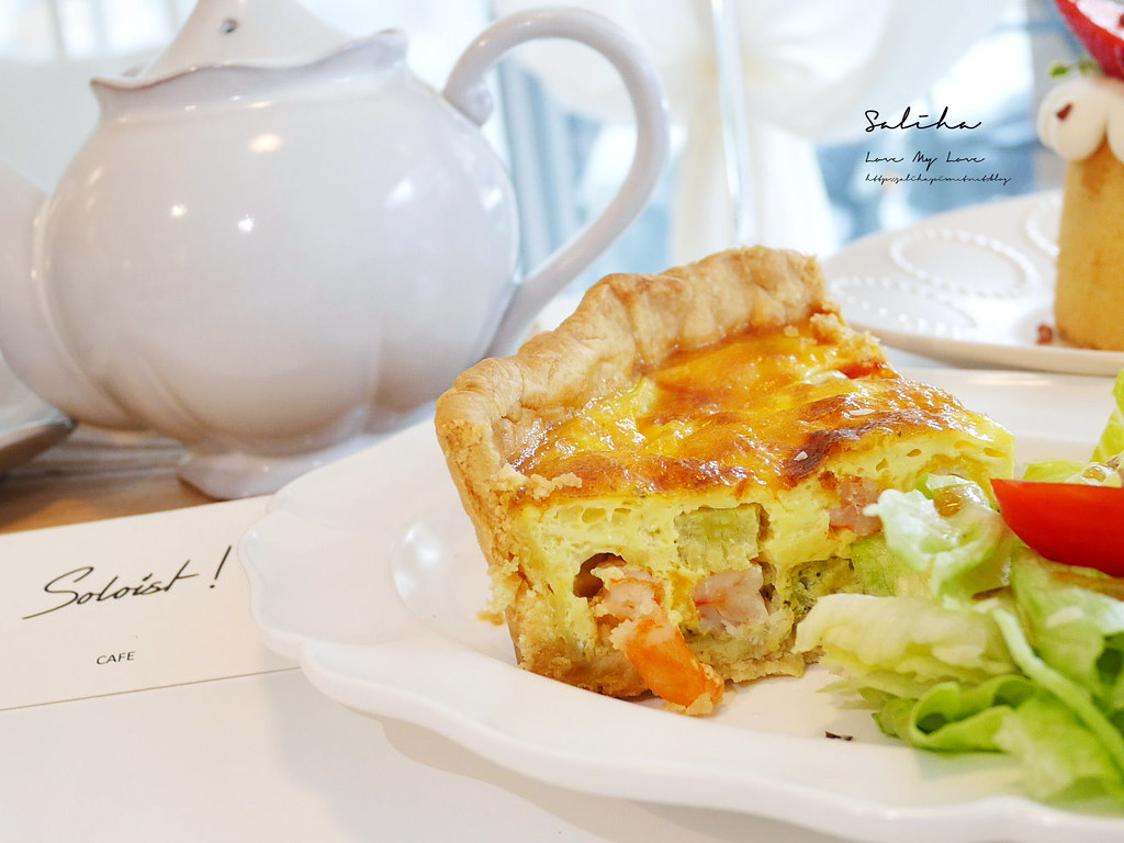 台北好吃輕食咖啡廳Soloist Cafe大安區六張犁站附近下午茶餐廳推薦輕食蛋糕甜點 (1)