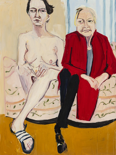 Chantal Joffe Self-Portrait Naked with My Mother I, 2020
