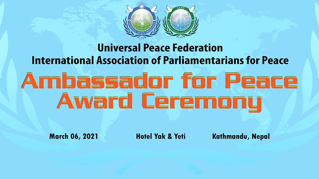 Nepal-2021-03-06-Nepalese Health Workers Honored with Ambassador for Peace Award