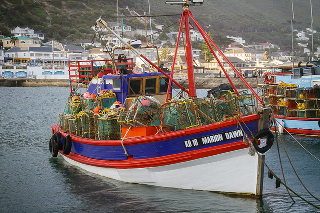 Crayfish boat, Kalk Bay, Cape