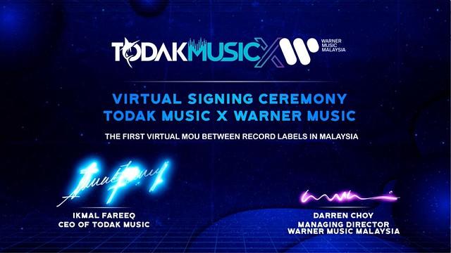 Melahirkan Penyanyi Yang Berkualiti, Todak Music Jalin Kerjasama Dengan Warner Music Malaysia
