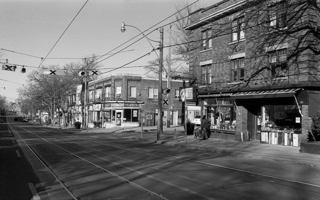 Very Empty Queen St. East on a Sunday Morning
