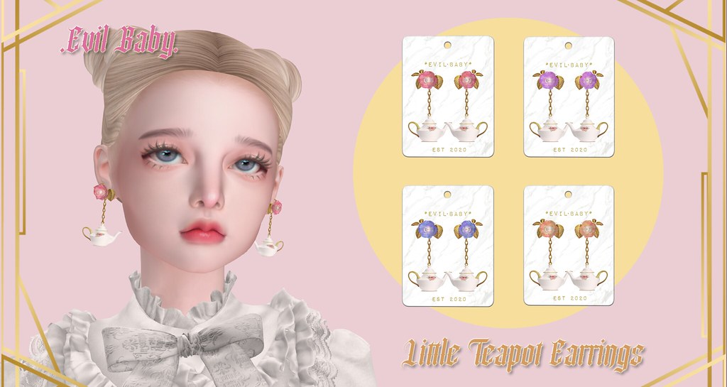 .Evil Baby. - Little Teapot Earrings