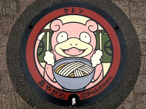 Ayagawa Kagawa, manhole cover 4 (香川県綾川町のマンホール4)