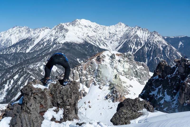 焼岳の山頂