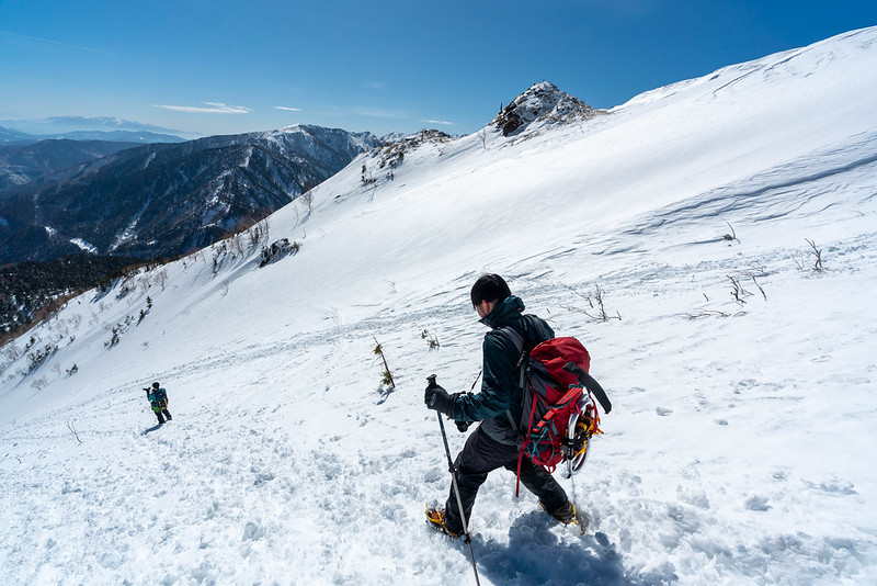 焼岳からの下山